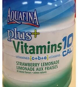 Aquafina Purified Water Plus Vitamins Strawberry Lemonade