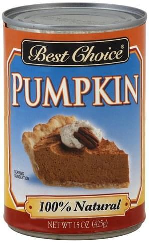 Best Choice Pumpkin - 15 oz
