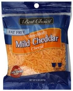 Best Choice Shredded Cheese Fat Free, Mild Cheddar