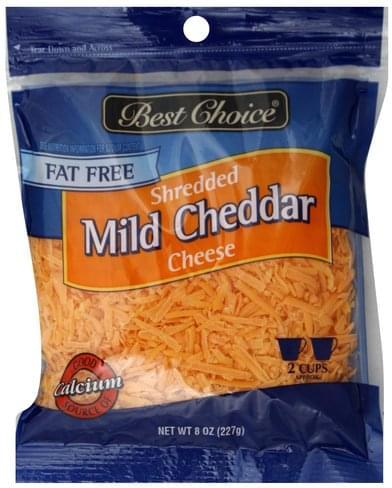 Best Choice Fat Free, Mild Cheddar Shredded Cheese - 8 oz