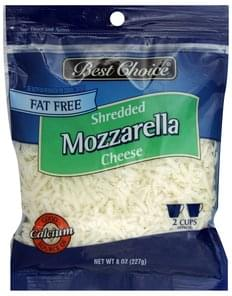 Best Choice Shredded Cheese Fat Free, Mozzarella