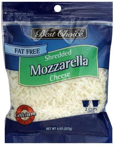 Best Choice Fat Free, Mozzarella Shredded Cheese - 8 oz
