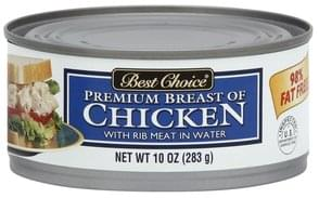 Best Choice Chicken Premium Breast, with Rib Meat in Water