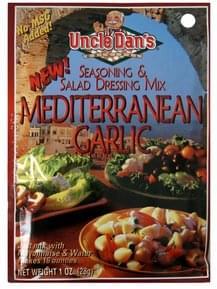 Uncle Dans Seasoning & Salad Dressing Mix Mediterranean Garlic