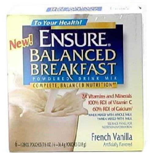 Ensure French Vanilla Balanced Breakfast Powdered Drink Mix - 6 ea