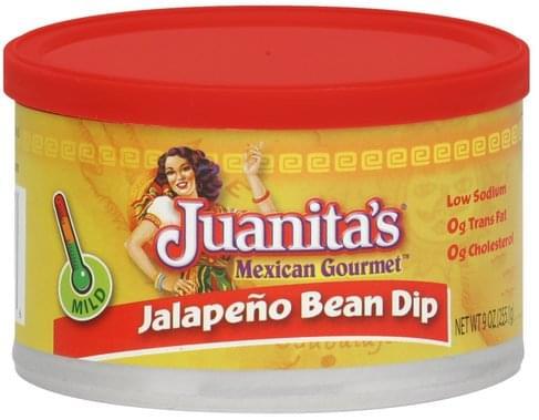 Juanitas Jalapeno, Mild Bean Dip - 9 oz