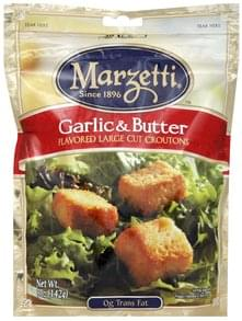 Marzetti Croutons Flavored Large Cut, Garlic & Butter