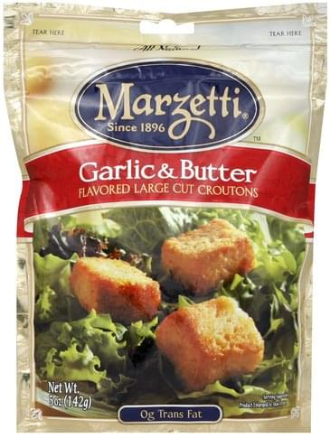 Marzetti Flavored Large Cut, Garlic & Butter Croutons - 5 oz
