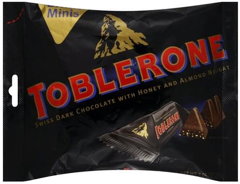 Toblerone Swiss With Honey And Almond Nougat Minis Dark