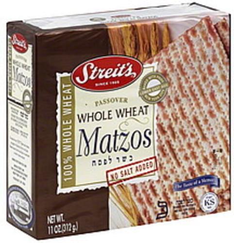 Streits Passover Whole Wheat Matzos - 11 oz