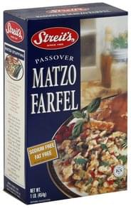 Streits Passover Matzo Farfel Sodium Free, Fat Free