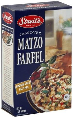 Streits Sodium Free, Fat Free Passover Matzo Farfel - 1 lb