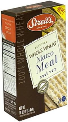 Streit's Matzo Meal Whole Wheat