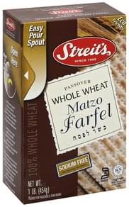 Streits Matzo Farfel Whole Wheat