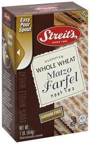 Streits Matzo Farfel Whole Wheat