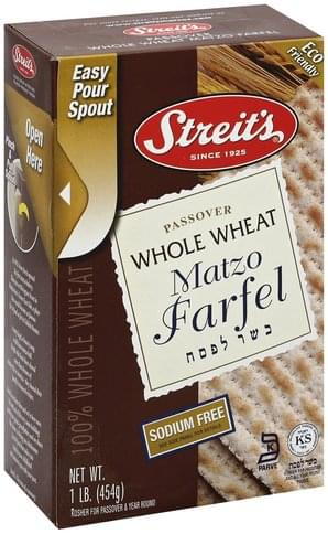 Streits Whole Wheat Matzo Farfel - 1 lb