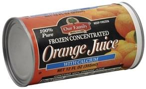 Our Family Frozen Concentrate Orange Juice, with Calcium