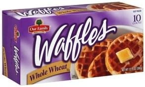Our Family Waffles Whole Wheat