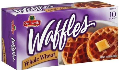 Our Family Whole Wheat Waffles - 10 ea