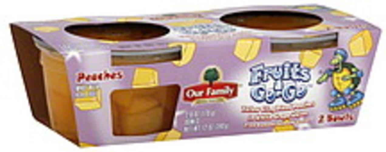 Our Family Yellow Cling Diced, in White Grape Juice Peaches - 2 ea