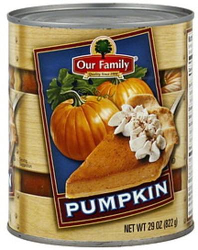 Our Family Pumpkin - 29 oz