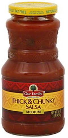 Our Family Salsa Thick & Chunky, Medium