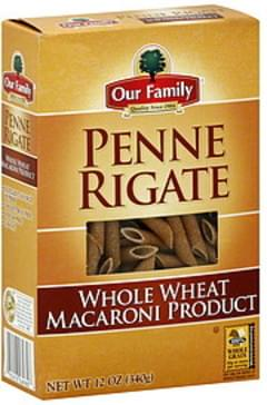 Our Family Penne Rigate Whole Wheat