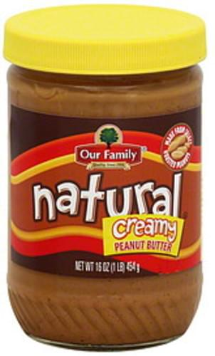 Our Family Creamy Peanut Butter - 16 oz