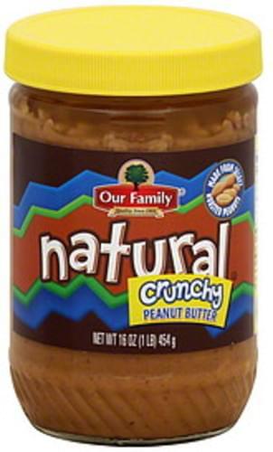 Our Family Crunchy Peanut Butter - 16 oz