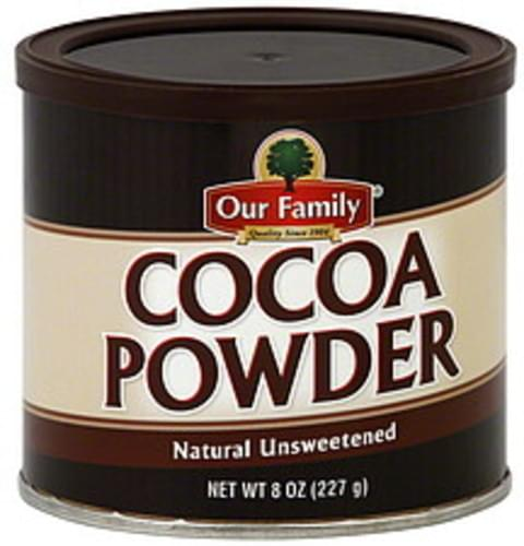 Our Family Natural Unsweetened Cocoa Powder - 8 oz