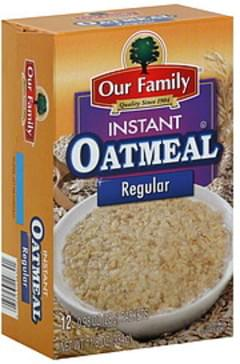 Our Family Instant Oatmeal Regular