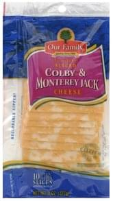 Our Family Sliced Cheese Colby & Monterey Jack