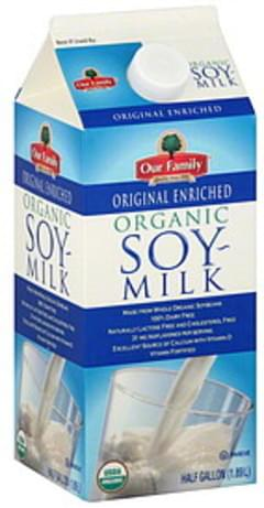 Our Family Soy Milk Organic, Original Enriched