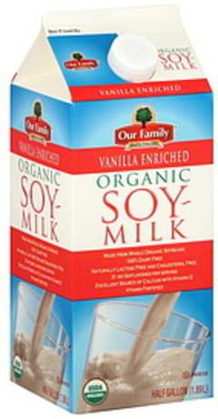 Our Family Soy Milk Organic, Vanilla Enriched
