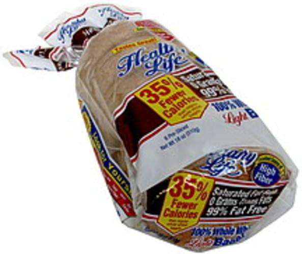 Healthy Life Light, Pre-Sliced, Whole Wheat Bagels - 6 ea