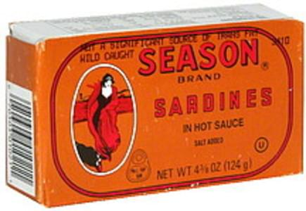 Season Sardines in Hot Sauce