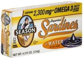 Season Sardines Imported, in Water