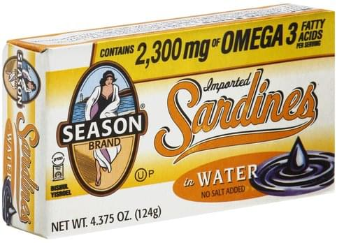Season Imported, in Water Sardines - 4.375 oz