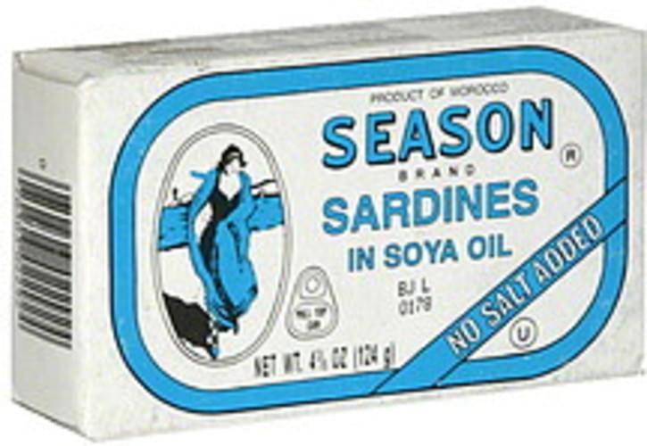 Season in Soya Oil Sardines - 4.38 oz