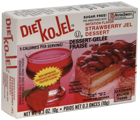 Kojel Imitation Flavor Strawberry Jel Dessert - 0.3 oz