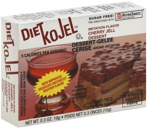 Kojel Cherry, Sugar Free Jell Dessert - 0.3 oz