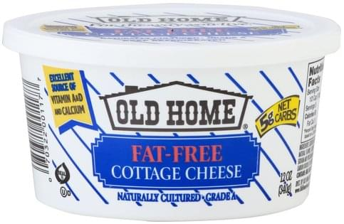 Old Home Fat-Free Cottage Cheese - 12 oz