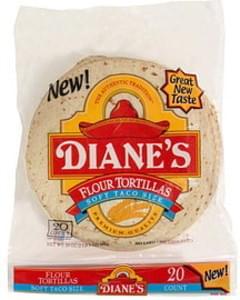 Dianes Flour Tortillas Soft Taco Size