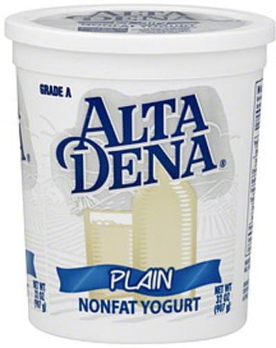Alta Dena Nonfat, Plain Yogurt - 32 oz