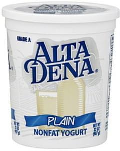 Alta Dena Yogurt Nonfat, Plain