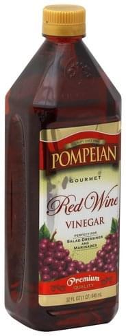 Pompeian Gourmet, Red Wine Vinegar - 32 oz