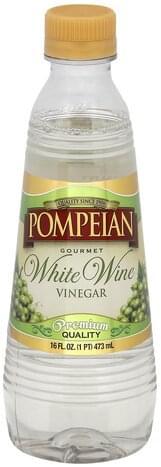 Pompeian Gourmet, White Wine Vinegar - 16 oz