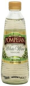 Pompeian Vinegar Gourmet, White Wine