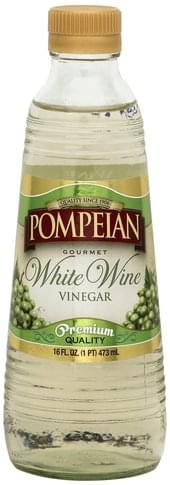 Pompeian Gourmet, White Wine Vinegar - 16 oz