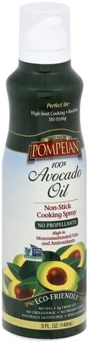 Pompeian Non-Stick, 100% Avocado Oil Cooking Spray - 5 oz